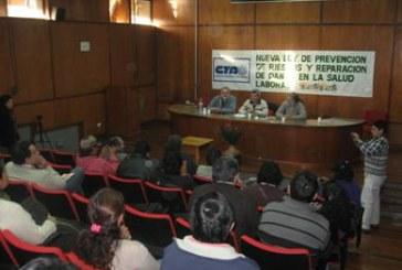 De Gennaro presentó en Jujuy el proyecto de Ley de Riesgos del Trabajo