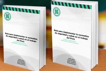 Presentan primer libro peruano sobre normas de seguridad y salud en trabajo