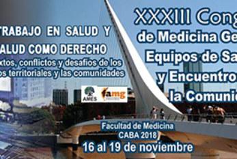2018: ARGENTINA – XXXII CONGRESO DE MEDICINA GENERAL, EQUIPOS DE SALUD Y ENCUENTROS CON LA COMUNIDAD