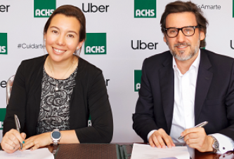 La ACHS firma alianza con Uber que beneficiará a más de dos millones de chilenos